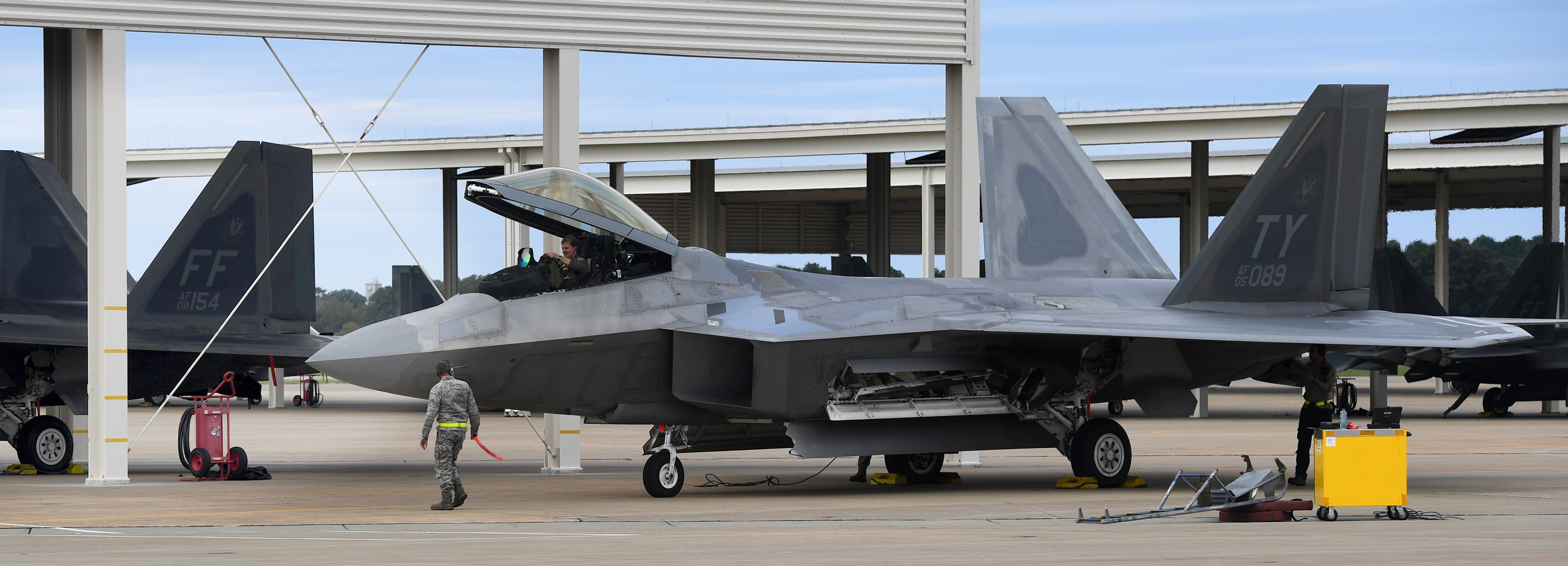 Langley AFB hosts Tyndall AFB F-22s